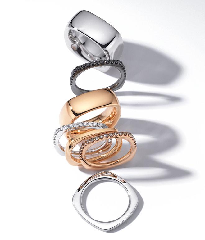Geometrische Ringe von Wempe