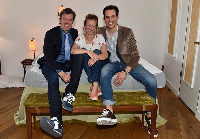 DJ John Munich mit Nina Eichinger und Alexander Mazza. Fotocredit: Sabien Brauer - BrauerPhotos