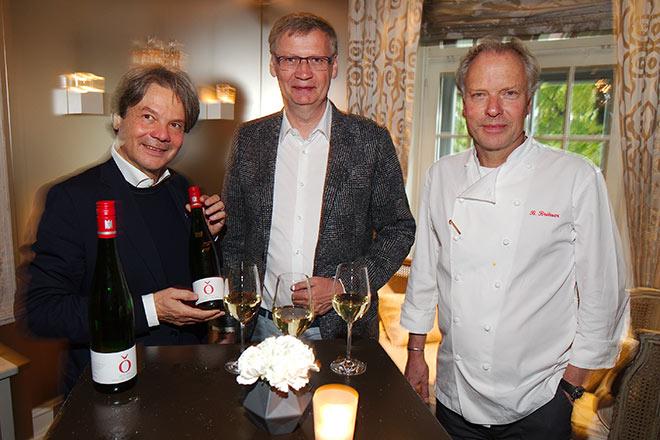 Michael Käfer mit Günther Jauch und Bobby Bräuer. Fotocredit: Jens Hartmann