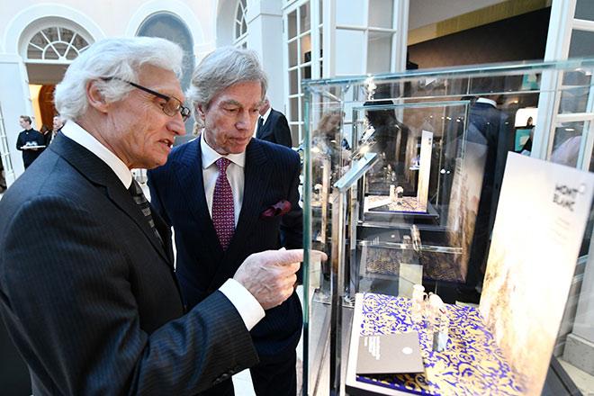 Luitpold und Leopold von Bayern kamen gerne zu diesem Kunstevent von Montblanc in die Residenz. Fotocredit: Jörg Koch, GettyImages