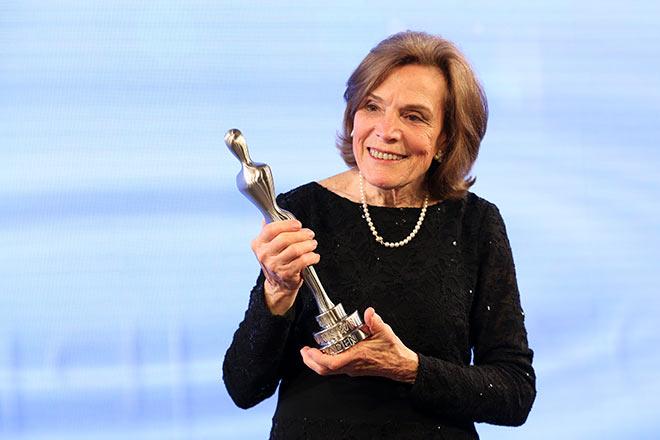"""Die US-amerikanische Ozeanografin und Umweltaktivistin Sylvia Earle erhielt für den Schutz der Meere den Gala Spa Awards """"Special Prize"""". Eine Auszeichnung für Persönlichkeiten, die sich um den Schutz der Ressource Wasser verdient gemacht hatten. Fotocredit: Gisela Schober, GettyImages"""