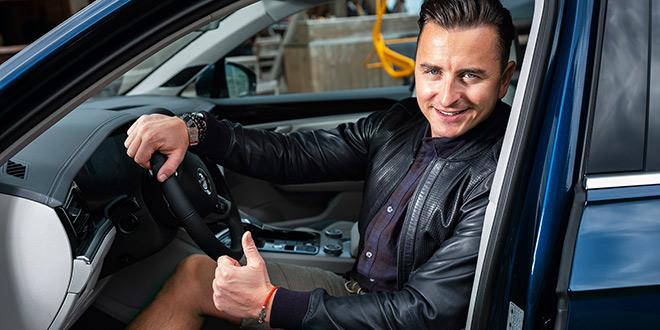 Für Autotests nimmt sich Andreas Gabalier auch sehr gerne Zeit!
