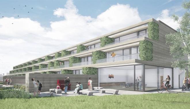 In Alt-Riem entsteht ein Bauprojekt - Bauträger und Spekulanten sind nicht erwünscht! Bezahlbar wohnen in München. Fotocredit: neubaukompass.de