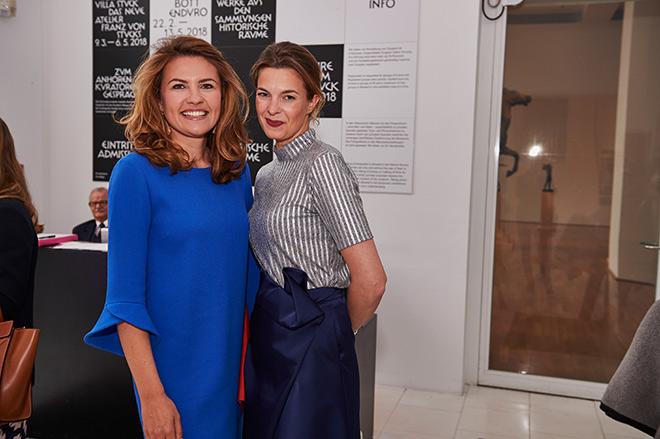 Lud zum Kunst Dinner: Juana Schwan (rechts) hier mit Martha von Seckendorff