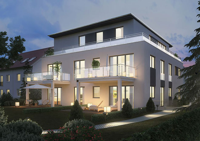 penthousewohnung im gr nen neubauimmobilien in waldperlach. Black Bedroom Furniture Sets. Home Design Ideas