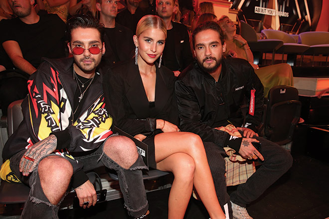 Selten in München: Bill Kaulitz, Follower-Millionärin Caro Daur und Tom Kaulitz. Fotocredit: Gisela Schober, GettyImages