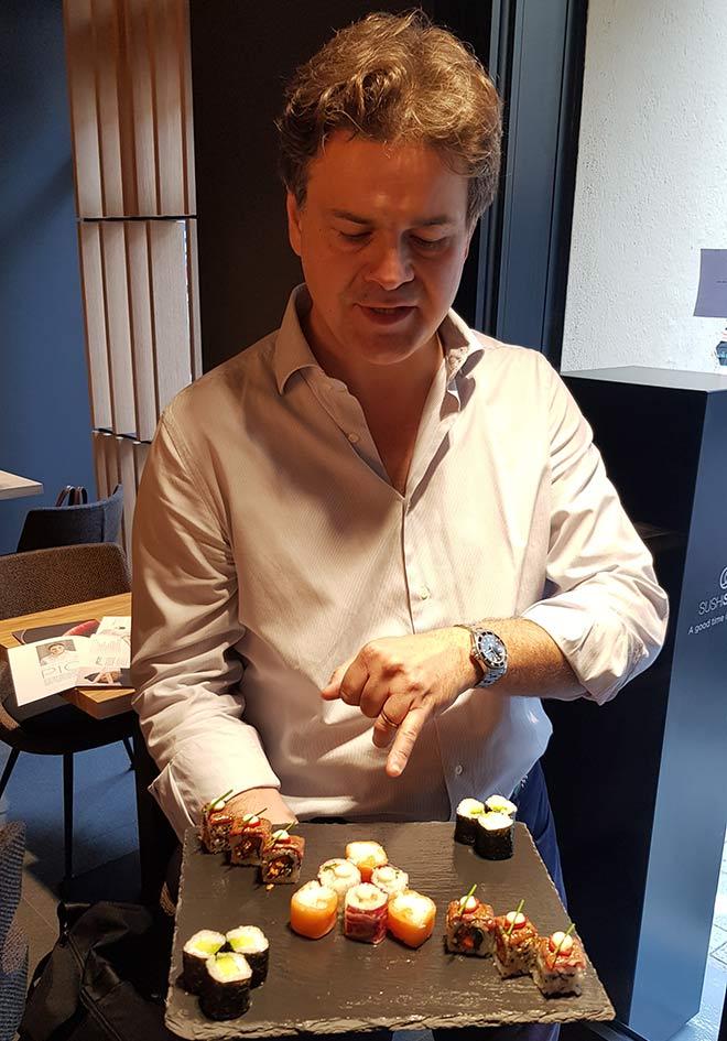 I love Sushi sagt auf jeden Fall Philippe de Fraiteur, der General Manager von Sushi Development Deutschland