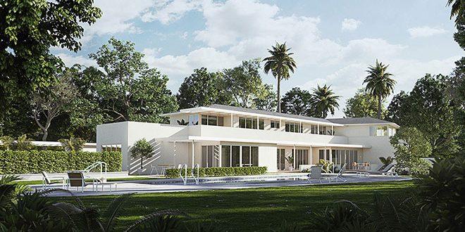 thomas mann villa in l a mit m nchner lichtdesign. Black Bedroom Furniture Sets. Home Design Ideas