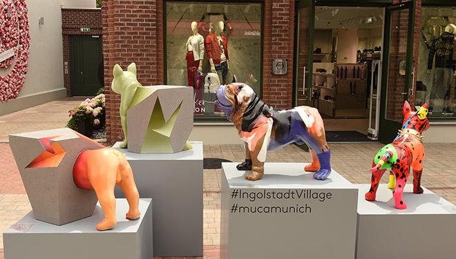 Jeder Kunst-Hund ist ein Einzelstück! Fotocredit: G. Nitschke, Ingolstdat Village