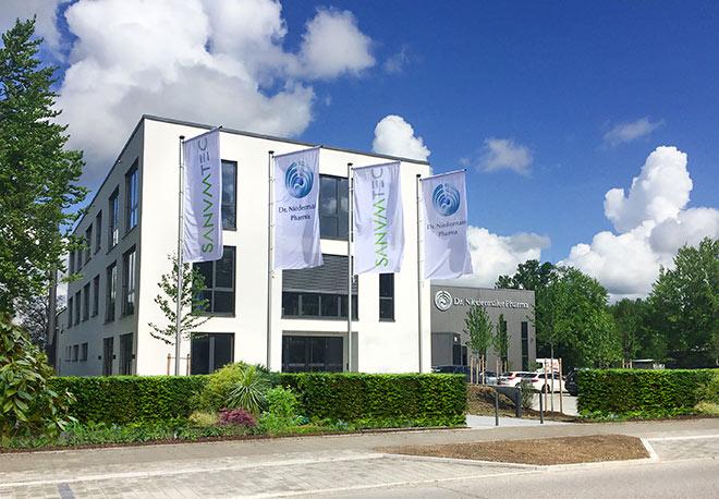 Der neue Firmensitz von Dr. Niedermaier Pharma in Hohenbrunn