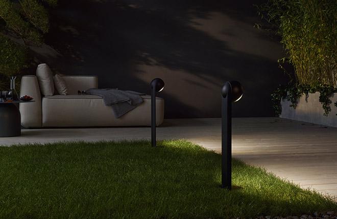 Neue Standards für Außenleuchten vom Münchner Unternehmen Occhio: die neuen Gartenleuchten aus der Sito-Familie. Fotocredit: mierswa & kluska