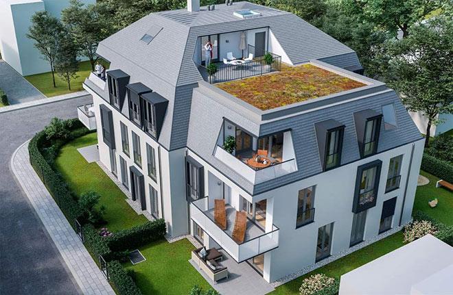 Neun Eigentumswohnungen entstehen in einem der schönsten Münchner Wohnviertel Nymphenburg. Fotocredit: neubaukompass.de