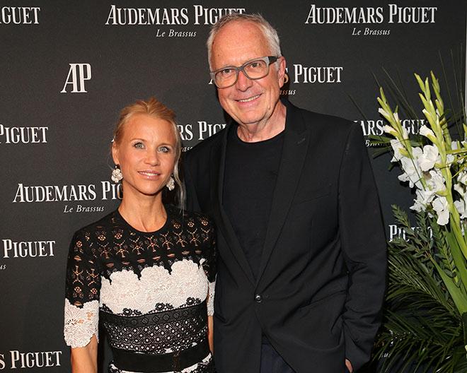 AP Gäste: Florentine Rosemeyer, welche gerade die aktuelle Vernissage Galerie Opdahl kuratierte) mit Hubertus Hamm. Fotocredit: Gisela Schober, GettyImages