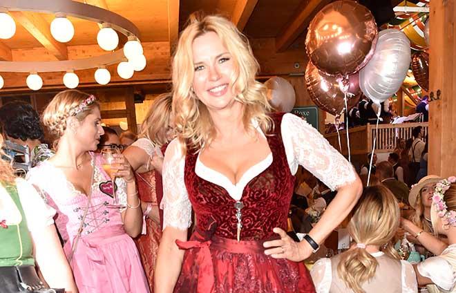 Veronica Ferres als Dirndl-Lady in RED kam zur MadlWiesn. Foto: BrauerPhotos / S.Brauer für Hell & Karrer