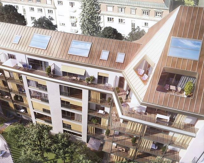 Dem Himmel ganz nah: eine Penthouse-Wohnung über drei Etagen. Fotocredit: neubaukompass.de