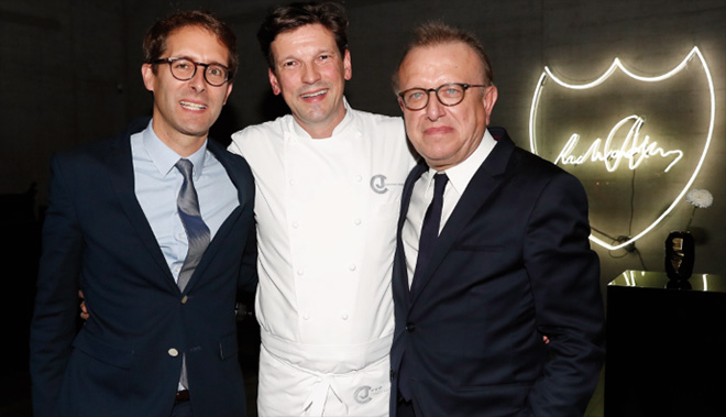 Vincent Chaperon, Christian Jürgens und Richard Geoffroy. Fotocredit: Franziska Krug, Getty Images