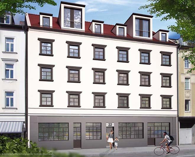 15 Galerie-Wohnungen entstehen in der Hofmannstraße. Was man hier nicht sehen kann: Die Galeriewohnungen haben Deckenhöhen von 4 Metern.