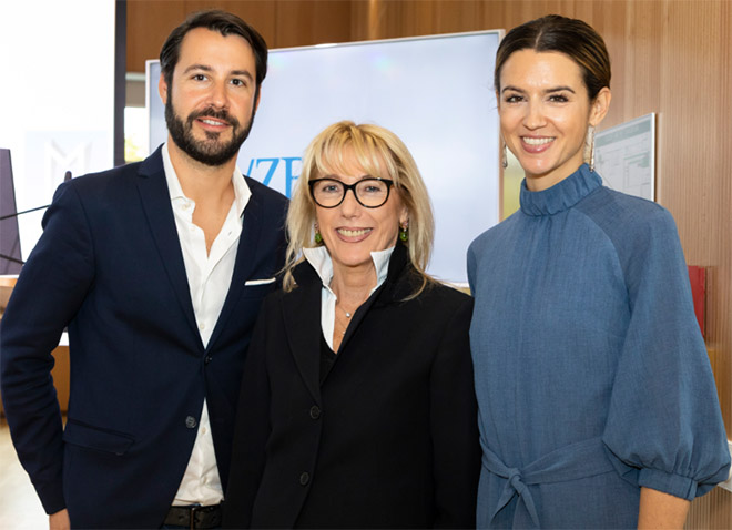 Influencer Marketing -Experten (v.l.n.r.): Jonas Wolf (Pulse Advertising), Waltraut von Mengden (VZB) und Kerstin Weng (InStyle). Fotocredit: Bettina Theisinger