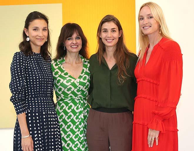 Ladies Lunch für die Kunst (v.l.n.r.): Felicitas Vogdt, Dr. Sonja Lechner, Milana Schoeller und Petra Winter. Fotocredit: Gisela Schober/Getty Images