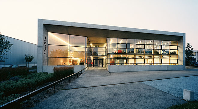 ClassiCon Showroom. Gleich nach Opening 2003 erhielt ClassiCon den Bauherrenpreis 2003 Gewerbe dafür. Fotocredit: ClassiCon