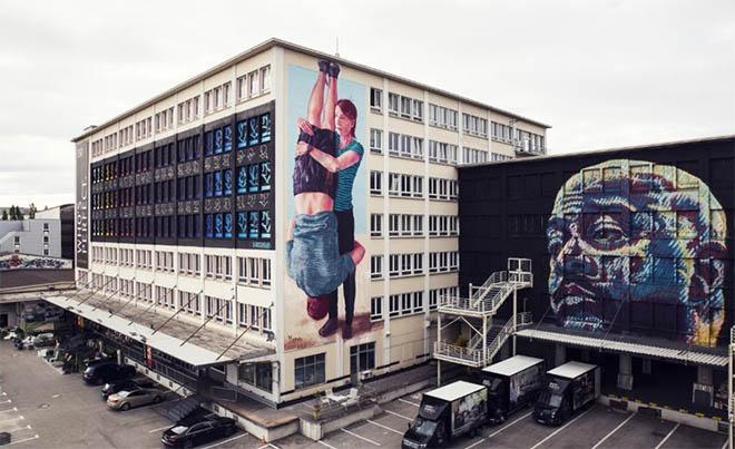 Ende Dezember endet eines der coolsten Münchner Kunstprojekte. Im Bild: Stohead Addison Karl Fintan Magee. Fotocredit: Silvie Tillard Bis Ende Dezember 2018 gibt es noch das Kunstlabor.
