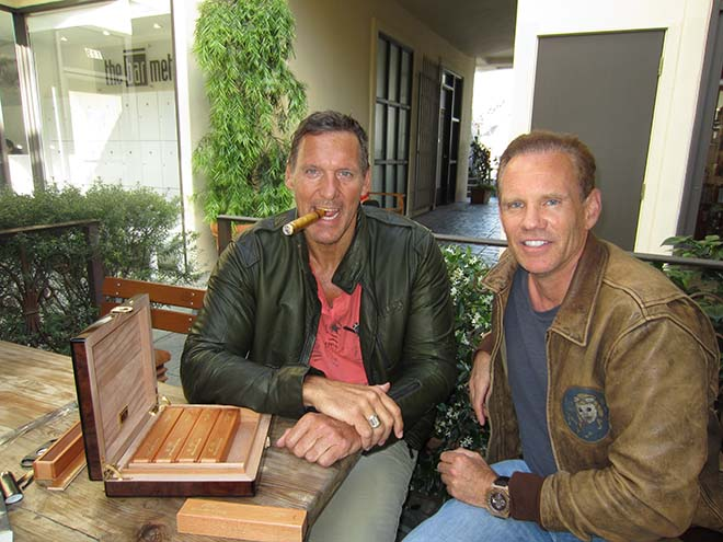 Daniel Marshall hat viele prominente Fans! Hier mit Ralf Moeller.