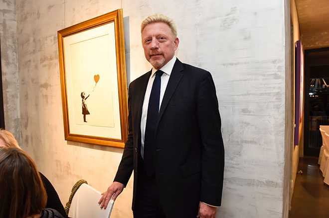 Boris Becker meets Bansky und kam dafür extra nach München. Foto: BrauerPhotos / S.Brauer
