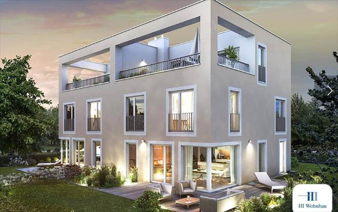 Villen im Bauhaus Stil sind zeitos. Fotocredit: neubaukompass.de