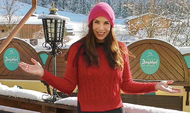 Moderatorin Alexandra Polzin mag Tirol