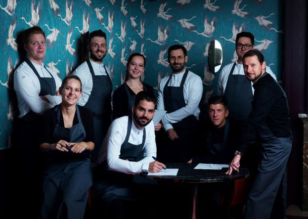 Team vom Restaurant Alois. Fotocredit: Dallmayr/ David Maupilé
