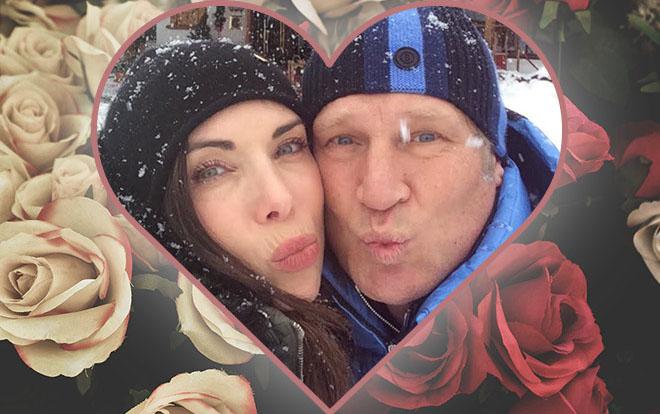 Moderatorin Alexandra Polzin mit Ehemann Gerhard Leinauer verbringen den Valentinstag in Schweden.