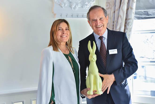 Christiane Hirmer, VizePräsidentin LIDE Deutschland, Luiz Fernando Furlan, Bundesminister Brasiliens für Entwicklung, Industrie