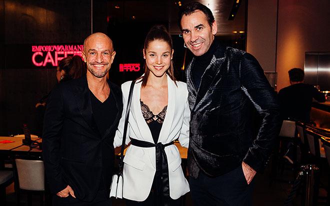 Model Agent Armin peyman mt Pauline Schüler und Gastronom Michael Wilhelmer beim Carnevale di Venezia. Fotocredit: Stefan J. Wolf