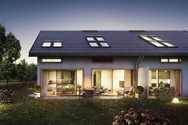 Fünf Reihenhäuser und zwei Doppelhaushälften entstehen in Gauting. Fotocredit: Neubauimmobilien von neubaukompass.de