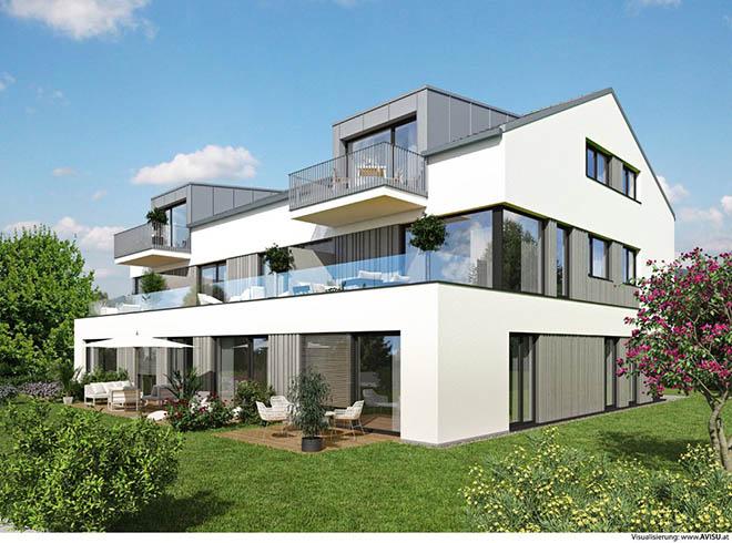In der Immenstadter Straße 1 in München-Fürstenried entsteht ein Mehrfamilienhaus mit acht Wohneinheiten. Fotocredit: neubaukompass.de