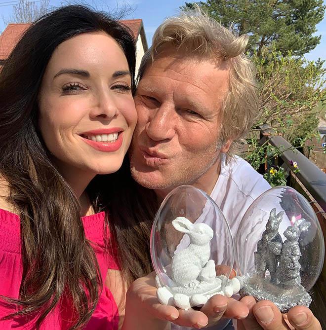 Alexandra Polzin mit Ehemann Gerhard Leinauer.