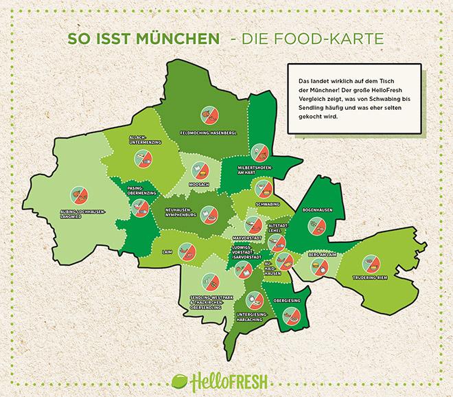 Karte München Stadtteile.So Isst München Wo Mehr Burger Und Mehr Vegetarisch Gegessen Wird