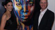 Kunst im Hotel: KünstlerinAfsaneh Nagy bringt Farbe insLeMéridien München