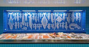 Fischstand im Frischeparadies, einem Einzelhändler für Premium Lebensmittel. Foto: Thomas Einberger / argum