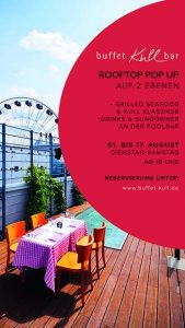 buffet Kull bar ROOFTOP POP UP @ Hoch5