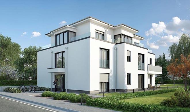 Neuer Baustil für den alteingesessenen Münchner Bauträger RSI Wohnbau. Fotocredit: neubaukompass.de