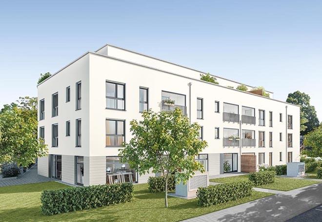 Hier entstehen 28 attraktive Wohnungen zum Kauf (2 bis 4 Zimmer) mit ca. 52 bis 107 qm und Preisen von va. 369. bis 999.000 €.