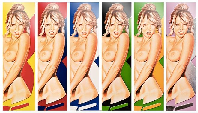 Kunstmesse ARTMUC: 'Delicious in Color' vom mittlerweile verstorbenen Künstler Mel Ramos.