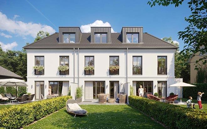 Wohnen in Allach. Drei Häuser mit Größen ab ca. 149 bis 153 qm. Fotocredit: neubaukompass.de