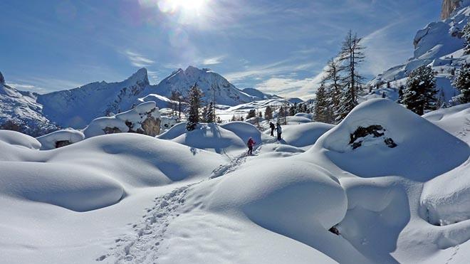 Abseits der Pisten von Cortina