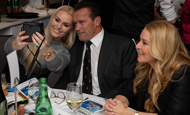 Arnold Schwarzenegger mit Lindsey Vonn