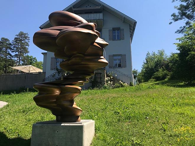 2019 wurden viele Tony Cragg Skulpturen als Sonderausstellung im Franz Marc Museum gezeigt.