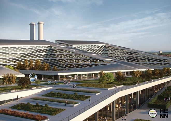 Wird es so bald der Großmarkt München aussehen? Fotocredit: HENN Architekturbüro