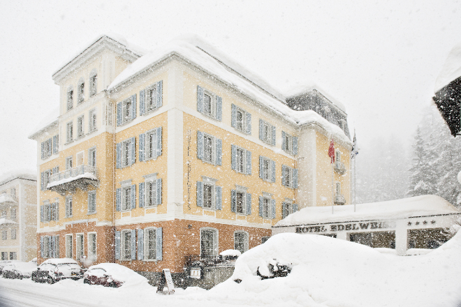 Hotel Edelweiss in Maria Sils. Fotocredit: hotel-edelweiss.ch