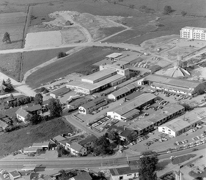 So sah das Gelände Anfang der 70er-Jahre aus. Bereits damals bewies Familie Houdek Pioniergeist.